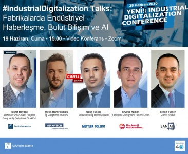 On June 19, 2020; you are invited to Industrial Digitalization Talks